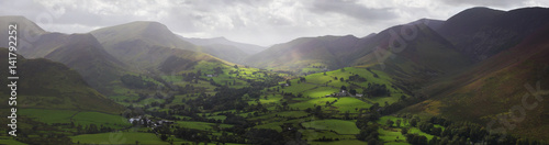 Fotografie, Obraz Panoramic View of Kenswick's Valley in Lake District, UK