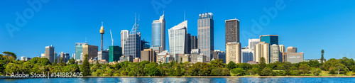 Panorama of Sydney central business district - Australia
