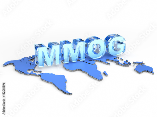 Canvas Print MMOG acronym (Massively multiplayer online game)