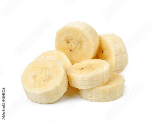 Fotografía Slice banana isolated on white background