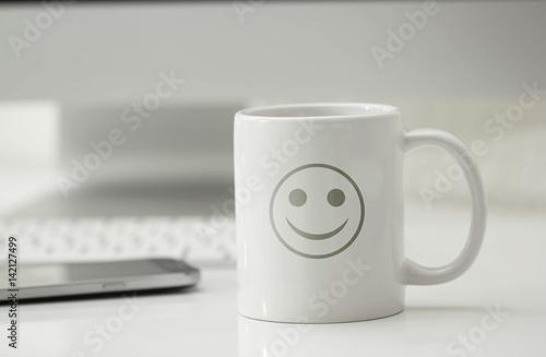 Obraz na plátne tazza, risveglio, ottimismo, felicità