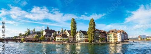 Obraz na plátně Historical city center of Lucerne