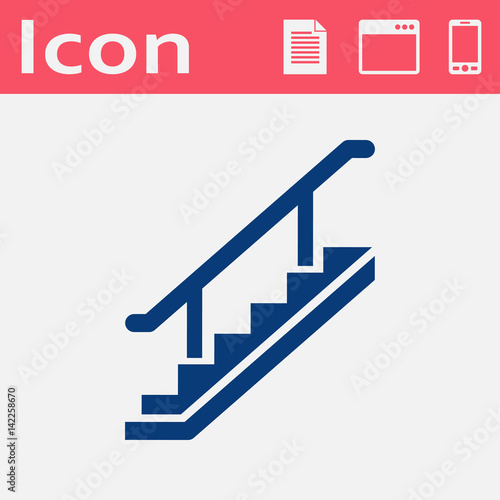 Photo stairs vector flat icon
