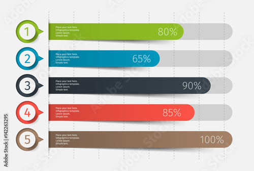 Valokuva Modern colorful 3d chart, graph