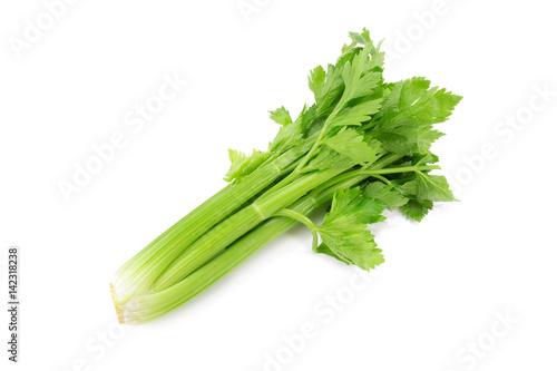 fresh celery isolated on a white background.