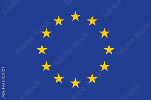 Canvas Print Vector of amazing European Union flag.