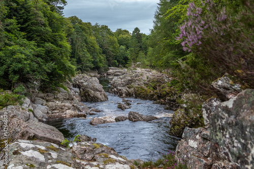 Tablou Canvas Findhorn river flowing through Highlands