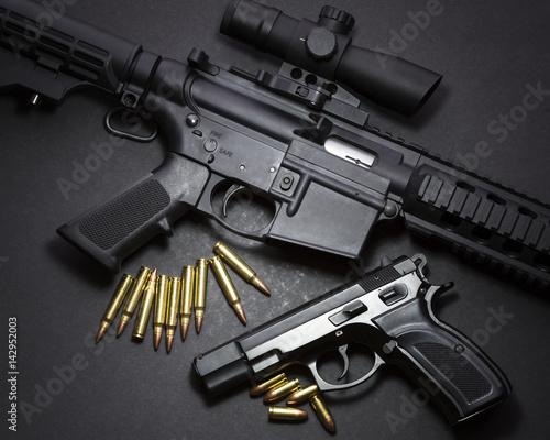Foto Handgun with rifle
