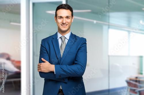 Portrait of an handsome businessman Fototapeta