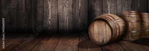 Photo background of barrel whiskey winery beer