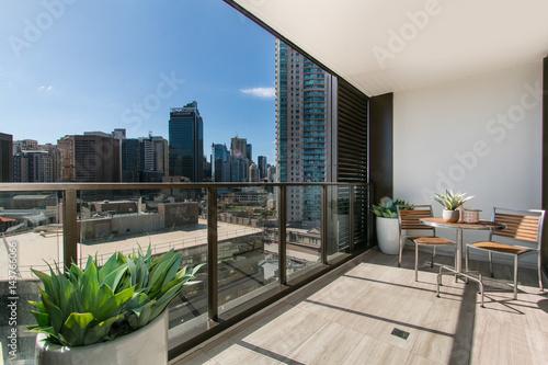 Valokuva gorgeous balcony with beautiful view