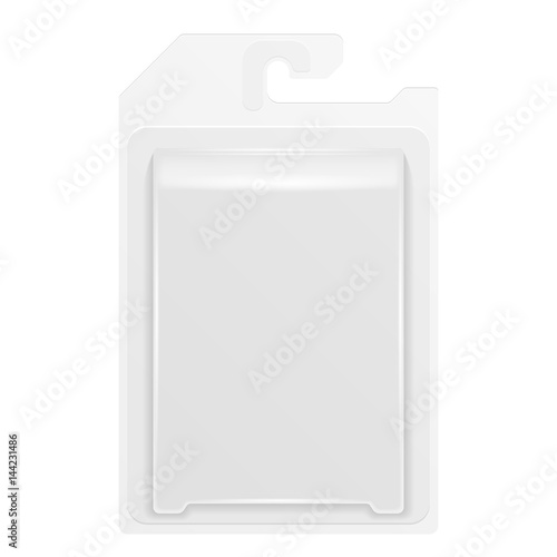Fotografie, Tablou White Product Package Box Blister With Hang Slot
