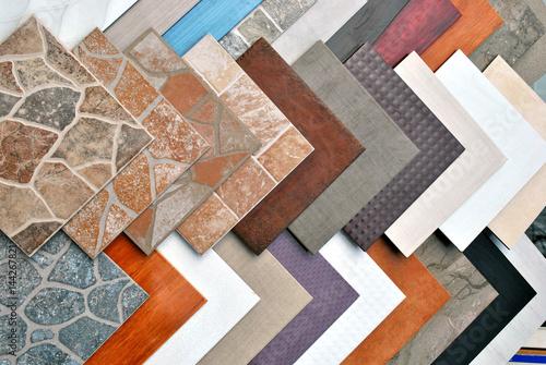 Fotografie, Obraz Various decorative tiles samples.