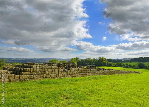 Valokuvatapetti Hadrians Wall near a place called Black Carts - Northumberland National Park, United Kingdom