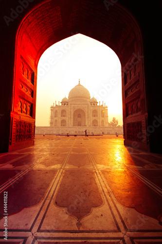 Obraz na plátně View from taj mahal mosque, Agra, Uttar Pradesh, India