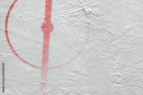 Fragment of ice hockey rink with markings