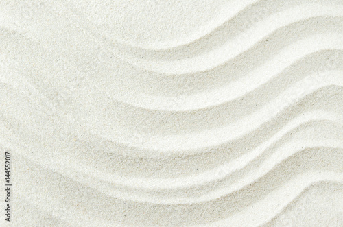 Fotografia White sand texture background with wave pattern