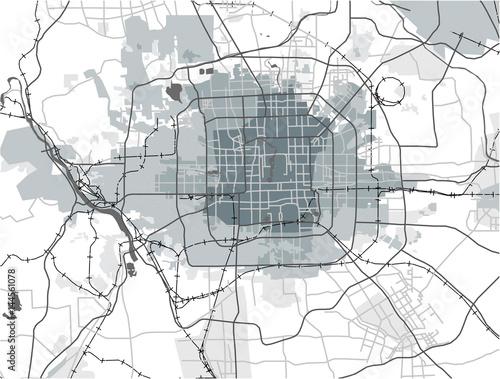 Obraz na plátně map of the city of Peking, China