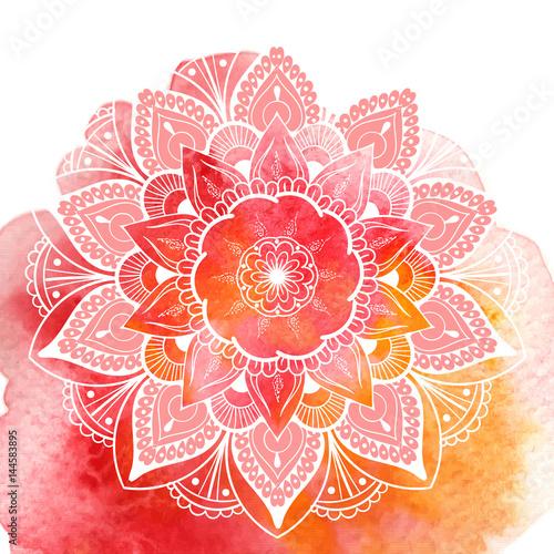 Fotografie, Obraz Decorative floral mandala. Vector illustration