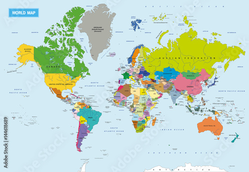 New Detailed Political World Map