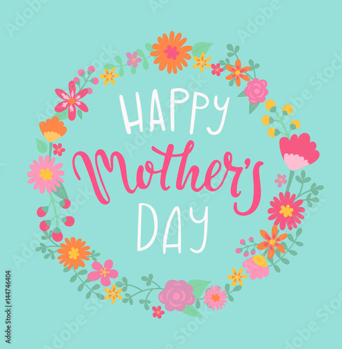 Canvas Print Happy Mother's day card.