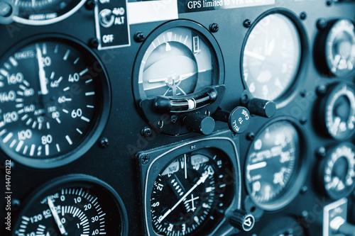 Cockpit helicopter - Instruments panel Fototapet