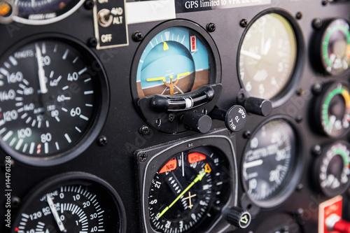 Tablou Canvas Cockpit helicopter - Instruments panel