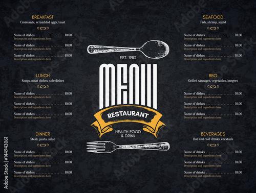Fotografia Restaurant menu design
