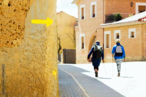 Slika na platnu Way of St James , Camino de Santiago , Compostela , arriving at Astorga ,Spain