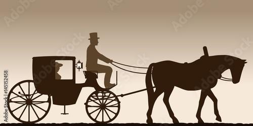 Fotografía Silhouette of a carriage