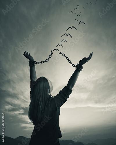 Obraz na plátne Chains and freedom