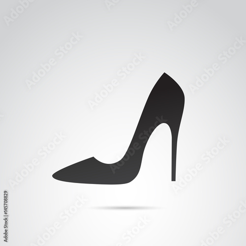 Fotografia, Obraz High heels vector icon.