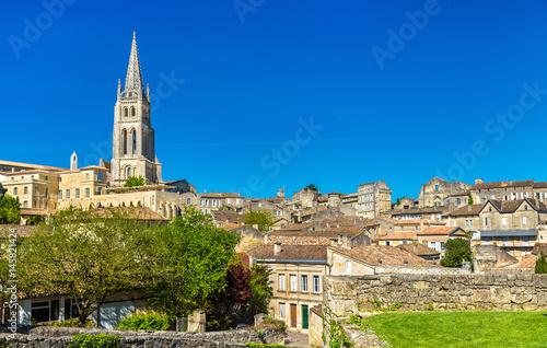 Billede på lærred Cityscape of Saint-Emilion town, a UNESCO heritage site in France
