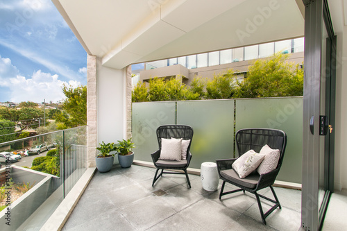 Stampa su Tela gorgeous balcony with beautiful view