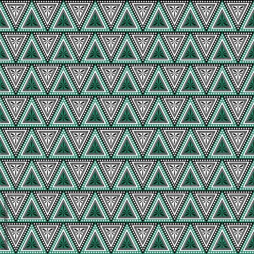 Wallpaper Mural Seamless vector decorative hand drawn pattern
