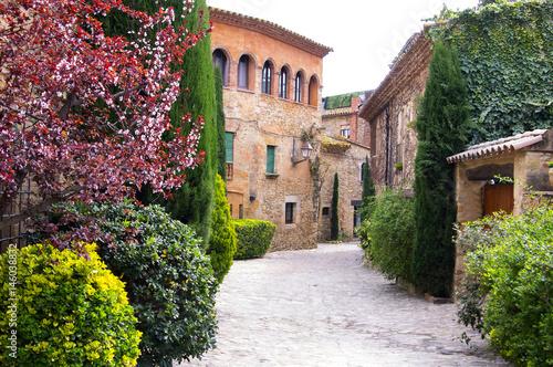 Cuadros en Lienzo Picturesque village of Peratallada in Catalonia.Spain