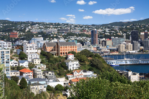 Aerial view of Wellington, New Zealand