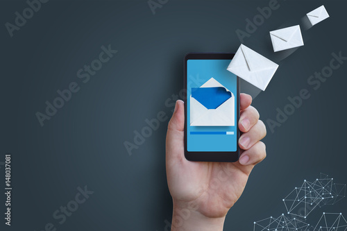 Sending a message with your phone.