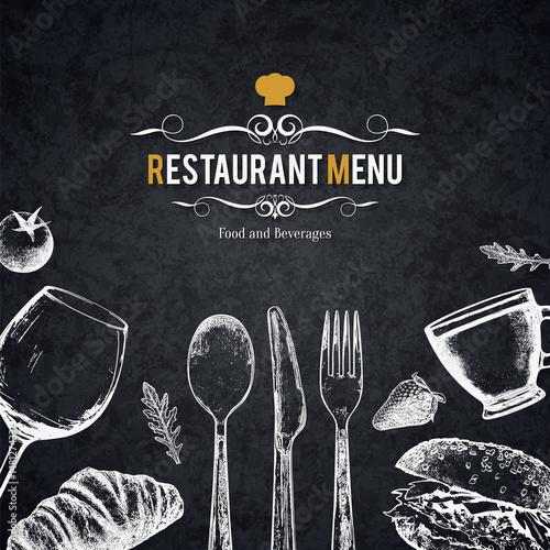 Vászonkép Restaurant menu design
