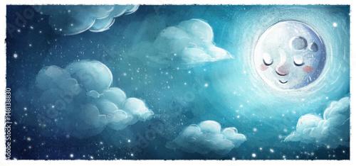 Photo luna en el cielo de noche