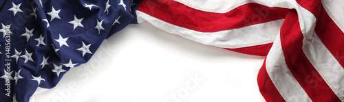 Foto Red, white, and blue American flag for Memorial day or Veteran's day background