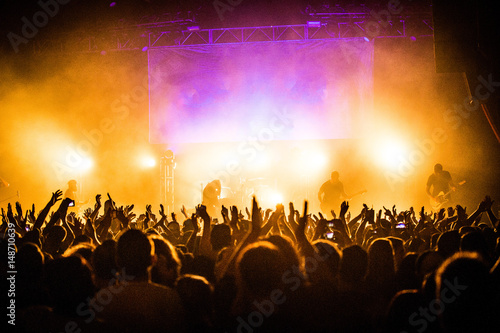 Concert Crowd Fototapeta