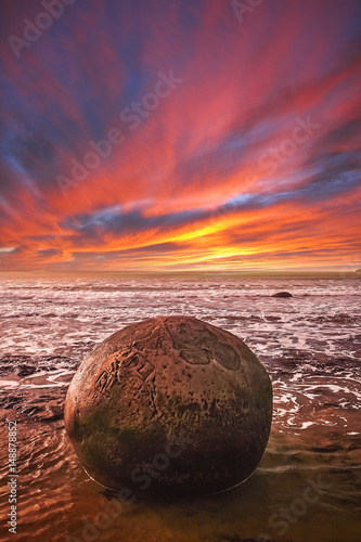 Fotografia Strange Moeraki boulder