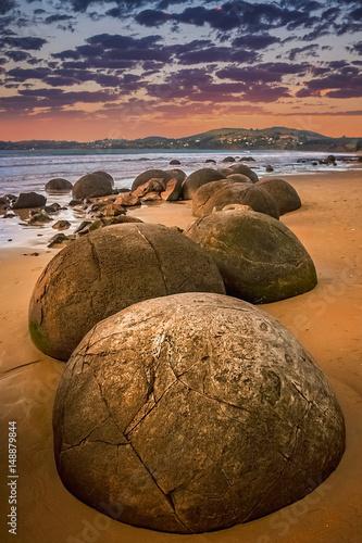 Stampa su Tela Strange Moeraki boulders