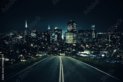 Road leading to night city