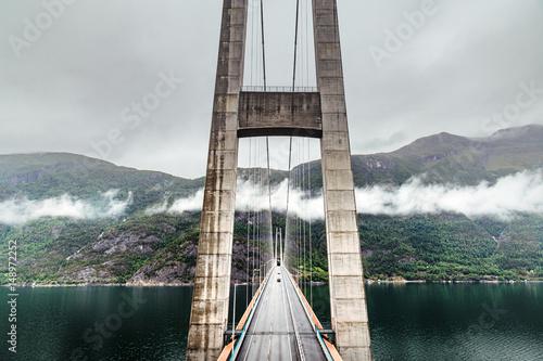 Hardanger bridge. Hardangerbrua. Norway, Scandinavia.