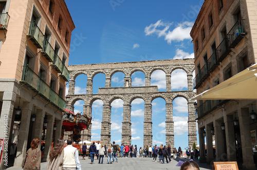 Canvas-taulu Vista del acueducto de Segovia