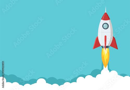 Fotografia Rocket launch illustration