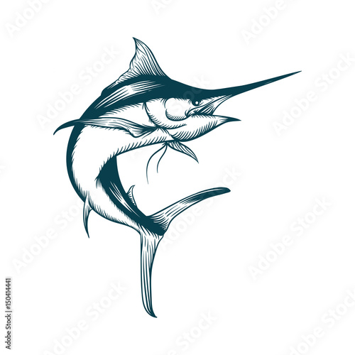 Canvas Print Blue Marlin