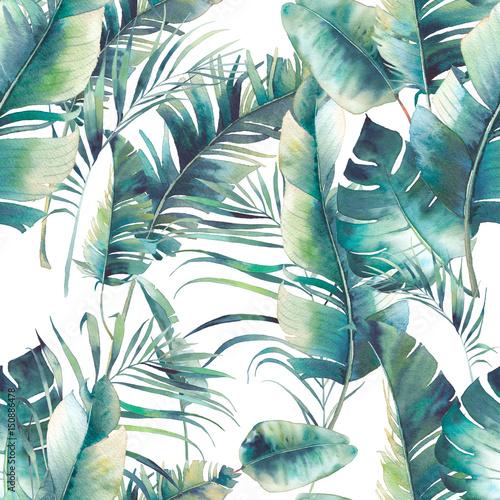 z-tropikalnym-wzorem-lisci-malowanych-akwarela